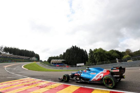 Esteban Ocon (FRA) Alpine F1 Team A521. 27.08.2021. Formula 1 World Championship, Rd 12, Belgian Grand Prix, Spa Francorchamps, Belgium, Practice Day. - www.xpbimages.com, EMail: requests@xpbimages.com © Copyright: Charniaux / XPB Images