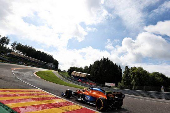 Daniel Ricciardo (AUS) McLaren MCL35M. 27.08.2021. Formula 1 World Championship, Rd 12, Belgian Grand Prix, Spa Francorchamps, Belgium, Practice Day. - www.xpbimages.com, EMail: requests@xpbimages.com © Copyright: Charniaux / XPB Images