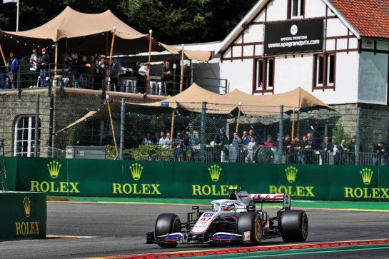 Mick Schumacher (GER) Haas VF-21. 27.08.2021. Formula 1 World Championship, Rd 12, Belgian Grand Prix, Spa Francorchamps, Belgium, Practice Day. - www.xpbimages.com, EMail: requests@xpbimages.com © Copyright: Batchelor / XPB Images