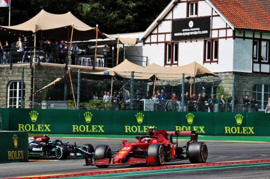 Carlos Sainz Jr (ESP) Ferrari SF-21. 27.08.2021. Formula 1 World Championship, Rd 12, Belgian Grand Prix, Spa Francorchamps, Belgium, Practice Day. - www.xpbimages.com, EMail: requests@xpbimages.com © Copyright: Batchelor / XPB Images