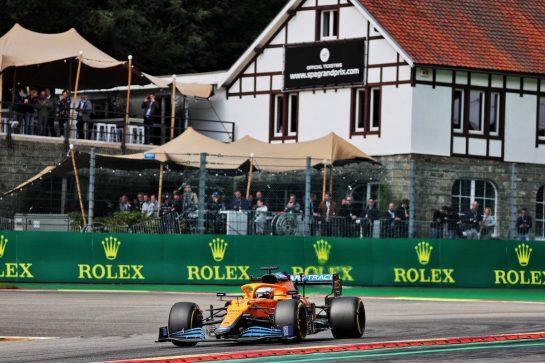 Daniel Ricciardo (AUS) McLaren MCL35M. 27.08.2021. Formula 1 World Championship, Rd 12, Belgian Grand Prix, Spa Francorchamps, Belgium, Practice Day. - www.xpbimages.com, EMail: requests@xpbimages.com © Copyright: Batchelor / XPB Images