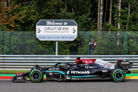 Lewis Hamilton (GBR) Mercedes AMG F1 W12. 27.08.2021. Formula 1 World Championship, Rd 12, Belgian Grand Prix, Spa Francorchamps, Belgium, Practice Day. - www.xpbimages.com, EMail: requests@xpbimages.com © Copyright: XPB Images
