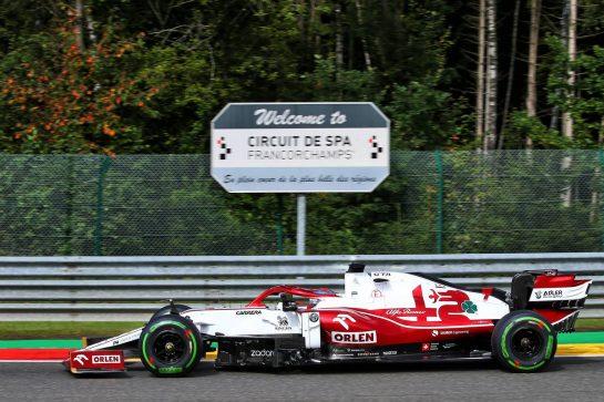 Kimi Raikkonen (FIN) Alfa Romeo Racing C41. 27.08.2021. Formula 1 World Championship, Rd 12, Belgian Grand Prix, Spa Francorchamps, Belgium, Practice Day. - www.xpbimages.com, EMail: requests@xpbimages.com © Copyright: XPB Images