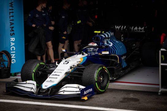 Nicholas Latifi (CDN) Williams Racing FW43B. 27.08.2021. Formula 1 World Championship, Rd 12, Belgian Grand Prix, Spa Francorchamps, Belgium, Practice Day. - www.xpbimages.com, EMail: requests@xpbimages.com © Copyright: Bearne / XPB Images