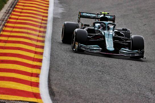 Sebastian Vettel (GER) Aston Martin F1 Team AMR21. 27.08.2021. Formula 1 World Championship, Rd 12, Belgian Grand Prix, Spa Francorchamps, Belgium, Practice Day. - www.xpbimages.com, EMail: requests@xpbimages.com © Copyright: Batchelor / XPB Images