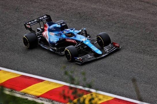 Fernando Alonso (ESP) Alpine F1 Team A521. 27.08.2021. Formula 1 World Championship, Rd 12, Belgian Grand Prix, Spa Francorchamps, Belgium, Practice Day. - www.xpbimages.com, EMail: requests@xpbimages.com © Copyright: Batchelor / XPB Images