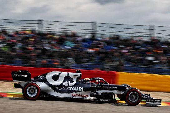 Yuki Tsunoda (JPN) AlphaTauri AT02. 27.08.2021. Formula 1 World Championship, Rd 12, Belgian Grand Prix, Spa Francorchamps, Belgium, Practice Day. - www.xpbimages.com, EMail: requests@xpbimages.com © Copyright: Batchelor / XPB Images