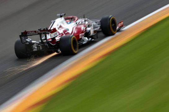Kimi Raikkonen (FIN), Alfa Romeo Racing 27.08.2021. Formula 1 World Championship, Rd 12, Belgian Grand Prix, Spa Francorchamps, Belgium, Practice Day.- www.xpbimages.com, EMail: requests@xpbimages.com © Copyright: Charniaux / XPB Images