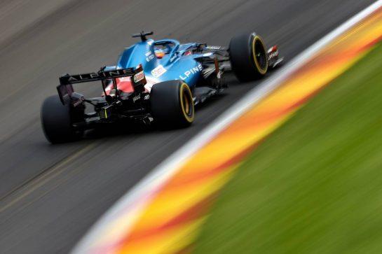 Fernando Alonso (ESP), Alpine F1 Team  27.08.2021. Formula 1 World Championship, Rd 12, Belgian Grand Prix, Spa Francorchamps, Belgium, Practice Day. - www.xpbimages.com, EMail: requests@xpbimages.com © Copyright: Charniaux / XPB Images