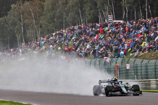 Sebastian Vettel (GER) Aston Martin F1 Team AMR21. 28.08.2021. Formula 1 World Championship, Rd 12, Belgian Grand Prix, Spa Francorchamps, Belgium, Qualifying Day. - www.xpbimages.com, EMail: requests@xpbimages.com © Copyright: Batchelor / XPB Images