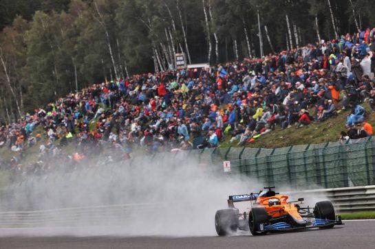 Daniel Ricciardo (AUS) McLaren MCL35M. 28.08.2021. Formula 1 World Championship, Rd 12, Belgian Grand Prix, Spa Francorchamps, Belgium, Qualifying Day. - www.xpbimages.com, EMail: requests@xpbimages.com © Copyright: Batchelor / XPB Images