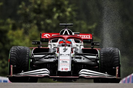 Kimi Raikkonen (FIN) Alfa Romeo Racing C41. 28.08.2021. Formula 1 World Championship, Rd 12, Belgian Grand Prix, Spa Francorchamps, Belgium, Qualifying Day. - www.xpbimages.com, EMail: requests@xpbimages.com © Copyright: Moy / XPB Images