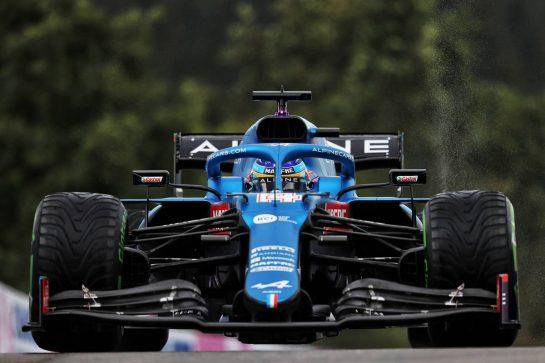 Fernando Alonso (ESP) Alpine F1 Team A521. 28.08.2021. Formula 1 World Championship, Rd 12, Belgian Grand Prix, Spa Francorchamps, Belgium, Qualifying Day. - www.xpbimages.com, EMail: requests@xpbimages.com © Copyright: Moy / XPB Images