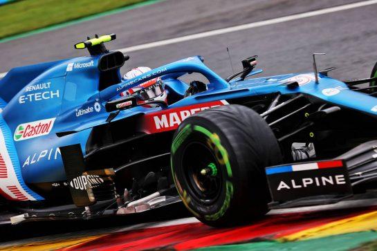 Esteban Ocon (FRA) Alpine F1 Team A521. 28.08.2021. Formula 1 World Championship, Rd 12, Belgian Grand Prix, Spa Francorchamps, Belgium, Qualifying Day. - www.xpbimages.com, EMail: requests@xpbimages.com © Copyright: Batchelor / XPB Images