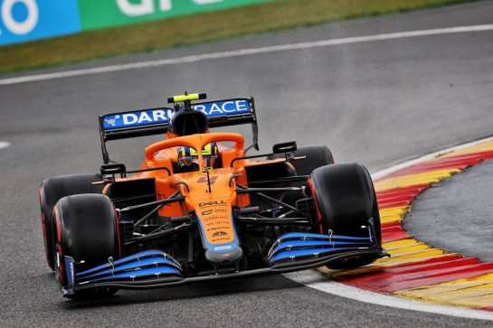 Lando Norris (GBR) McLaren MCL35M. 28.08.2021. Formula 1 World Championship, Rd 12, Belgian Grand Prix, Spa Francorchamps, Belgium, Qualifying Day. - www.xpbimages.com, EMail: requests@xpbimages.com © Copyright: Batchelor / XPB Images