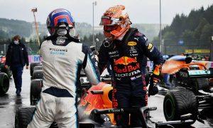 Verstappen denies Russell shock pole in rain-hit Spa