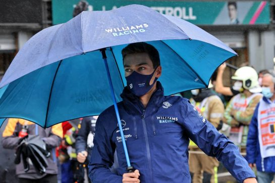 George Russell (GBR) Williams Racing on the drivers parade. 29.08.2021. Formula 1 World Championship, Rd 12, Belgian Grand Prix, Spa Francorchamps, Belgium, Race Day. - www.xpbimages.com, EMail: requests@xpbimages.com © Copyright: Moy / XPB Images