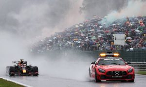 Heavy rain forces extended delay to Belgian GP