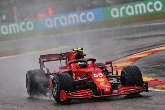 Carlos Sainz Jr (ESP) Ferrari SF-21. 29.08.2021. Formula 1 World Championship, Rd 12, Belgian Grand Prix, Spa Francorchamps, Belgium, Race Day. - www.xpbimages.com, EMail: requests@xpbimages.com © Copyright: Batchelor / XPB Images