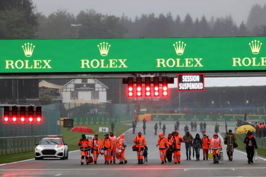 Circuit atmosphere - marshals head home after the race is ended. 29.08.2021. Formula 1 World Championship, Rd 12, Belgian Grand Prix, Spa Francorchamps, Belgium, Race Day. - www.xpbimages.com, EMail: requests@xpbimages.com © Copyright: Batchelor / XPB Images