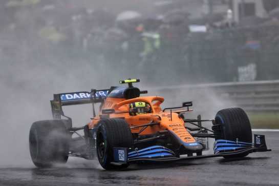 Lando Norris (GBR) McLaren MCL35M. 29.08.2021. Formula 1 World Championship, Rd 12, Belgian Grand Prix, Spa Francorchamps, Belgium, Race Day. - www.xpbimages.com, EMail: requests@xpbimages.com © Copyright: Batchelor / XPB Images