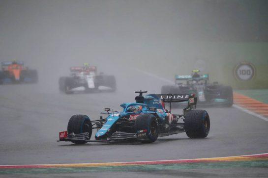 Fernando Alonso (ESP) Alpine F1 Team A521. 29.08.2021. Formula 1 World Championship, Rd 12, Belgian Grand Prix, Spa Francorchamps, Belgium, Race Day.- www.xpbimages.com, EMail: requests@xpbimages.com © Copyright: XPB Images
