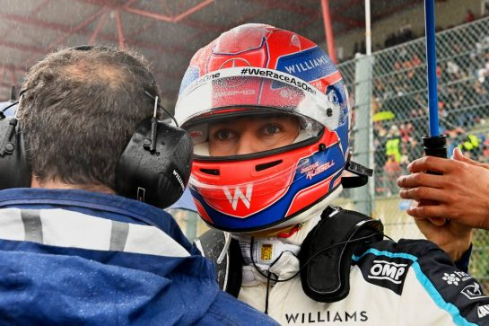 George Russell (GBR) Williams Racing on the grid. 29.08.2021. Formula 1 World Championship, Rd 12, Belgian Grand Prix, Spa Francorchamps, Belgium, Race Day. - www.xpbimages.com, EMail: requests@xpbimages.com © Copyright: FIA Pool Image for Editorial Use Only