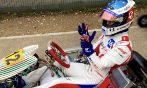Mick enjoys a karting workout at Kerpen