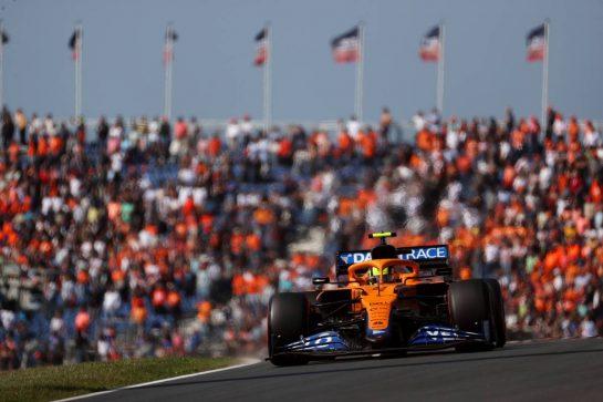Lando Norris (GBR) McLaren MCL35M. 03.09.2021. Formula 1 World Championship, Rd 13, Dutch Grand Prix, Zandvoort, Netherlands, Practice Day. - www.xpbimages.com, EMail: requests@xpbimages.com © Copyright: Batchelor / XPB Images