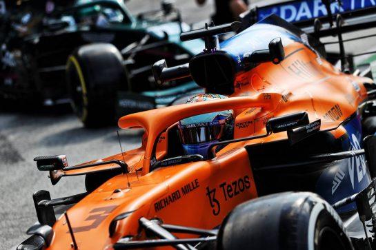 Daniel Ricciardo (AUS) McLaren MCL35M leaves the pits. 03.09.2021. Formula 1 World Championship, Rd 13, Dutch Grand Prix, Zandvoort, Netherlands, Practice Day. - www.xpbimages.com, EMail: requests@xpbimages.com © Copyright: Moy / XPB Images