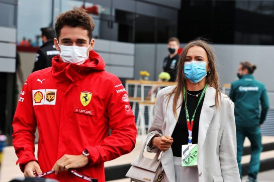 Charles Leclerc (MON) Ferrari with his girlfriend Charlotte Sine (MON). 04.09.2021. Formula 1 World Championship, Rd 13, Dutch Grand Prix, Zandvoort, Netherlands, Qualifying Day. - www.xpbimages.com, EMail: requests@xpbimages.com © Copyright: Moy / XPB Images