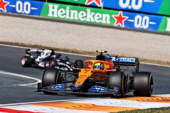 Lando Norris (GBR) McLaren MCL35M. 05.09.2021. Formula 1 World Championship, Rd 13, Dutch Grand Prix, Zandvoort, Netherlands, Race Day. - www.xpbimages.com, EMail: requests@xpbimages.com © Copyright: Batchelor / XPB Images