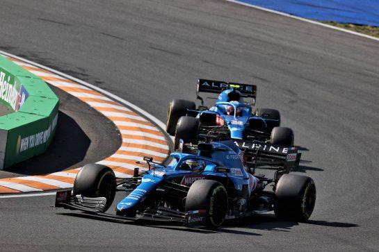 Fernando Alonso (ESP) Alpine F1 Team A521. 05.09.2021. Formula 1 World Championship, Rd 13, Dutch Grand Prix, Zandvoort, Netherlands, Race Day. - www.xpbimages.com, EMail: requests@xpbimages.com © Copyright: Batchelor / XPB Images
