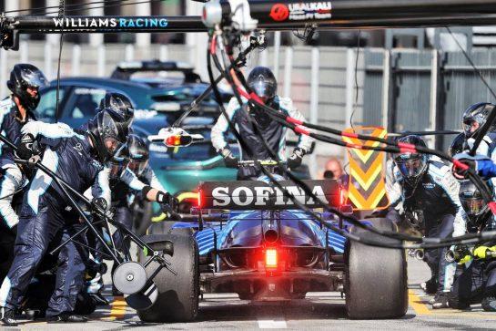 Nicholas Latifi (CDN) Williams Racing FW43B makes a pit stop. 05.09.2021. Formula 1 World Championship, Rd 13, Dutch Grand Prix, Zandvoort, Netherlands, Race Day. - www.xpbimages.com, EMail: requests@xpbimages.com © Copyright: Moy / XPB Images