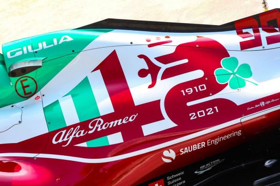 Alfa Romeo Racing  09.09.2021. Formula 1 World Championship, Rd 14, Italian Grand Prix, Monza, Italy, Preparation Day. - www.xpbimages.com, EMail: requests@xpbimages.com © Copyright: Charniaux / XPB Images