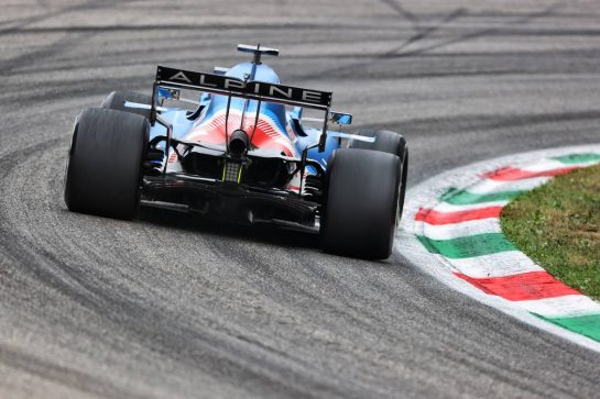 Fernando Alonso (ESP) Alpine F1 Team A521. 10.09.2021. Formula 1 World Championship, Rd 14, Italian Grand Prix, Monza, Italy, Qualifying Day. - www.xpbimages.com, EMail: requests@xpbimages.com © Copyright: Charniaux / XPB Images