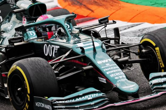 Sebastian Vettel (GER) Aston Martin F1 Team AMR21. 10.09.2021. Formula 1 World Championship, Rd 14, Italian Grand Prix, Monza, Italy, Qualifying Day. - www.xpbimages.com, EMail: requests@xpbimages.com © Copyright: Batchelor / XPB Images