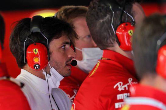 Carlos Sainz Jr (ESP) Ferrari. 10.09.2021. Formula 1 World Championship, Rd 14, Italian Grand Prix, Monza, Italy, Qualifying Day. - www.xpbimages.com, EMail: requests@xpbimages.com © Copyright: Batchelor / XPB Images