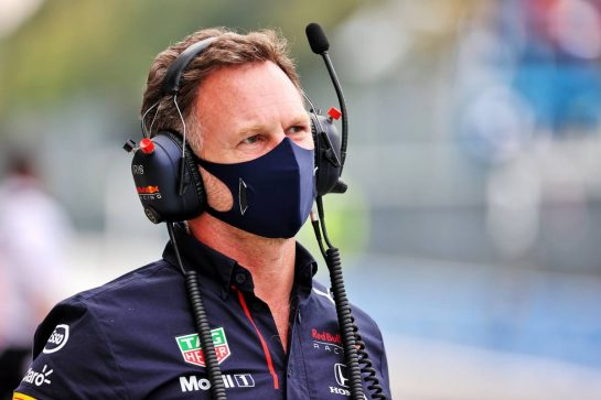 Christian Horner (GBR) Red Bull Racing Team Principal. 10.09.2021. Formula 1 World Championship, Rd 14, Italian Grand Prix, Monza, Italy, Qualifying Day. - www.xpbimages.com, EMail: requests@xpbimages.com © Copyright: Batchelor / XPB Images
