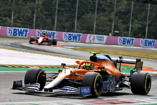 Lando Norris (GBR) McLaren MCL35M. 10.09.2021. Formula 1 World Championship, Rd 14, Italian Grand Prix, Monza, Italy, Qualifying Day. - www.xpbimages.com, EMail: requests@xpbimages.com © Copyright: XPB Images