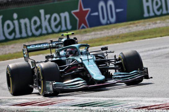 Sebastian Vettel (GER) Aston Martin F1 Team AMR21. 11.09.2021. Formula 1 World Championship, Rd 14, Italian Grand Prix, Monza, Italy, Sprint Day. - www.xpbimages.com, EMail: requests@xpbimages.com © Copyright: Batchelor / XPB Images