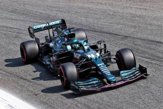 Lance Stroll (CDN) Aston Martin F1 Team AMR21. 11.09.2021. Formula 1 World Championship, Rd 14, Italian Grand Prix, Monza, Italy, Sprint Day. - www.xpbimages.com, EMail: requests@xpbimages.com © Copyright: Charniaux / XPB Images
