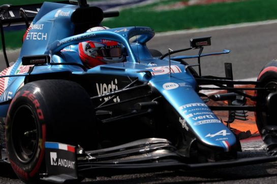 Esteban Ocon (FRA) Alpine F1 Team A521.11.09.2021. Formula 1 World Championship, Rd 14, Italian Grand Prix, Monza, Italy, Sprint Day.- www.xpbimages.com, EMail: requests@xpbimages.com © Copyright: Batchelor / XPB Images