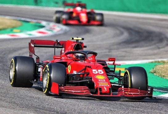 Carlos Sainz Jr (ESP) Ferrari SF-21. 11.09.2021. Formula 1 World Championship, Rd 14, Italian Grand Prix, Monza, Italy, Sprint Day. - www.xpbimages.com, EMail: requests@xpbimages.com © Copyright: Charniaux / XPB Images