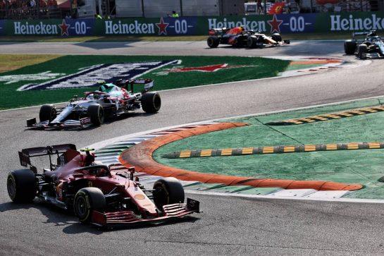 Carlos Sainz Jr (ESP) Ferrari SF-21. 11.09.2021. Formula 1 World Championship, Rd 14, Italian Grand Prix, Monza, Italy, Sprint Day. - www.xpbimages.com, EMail: requests@xpbimages.com © Copyright: Batchelor / XPB Images