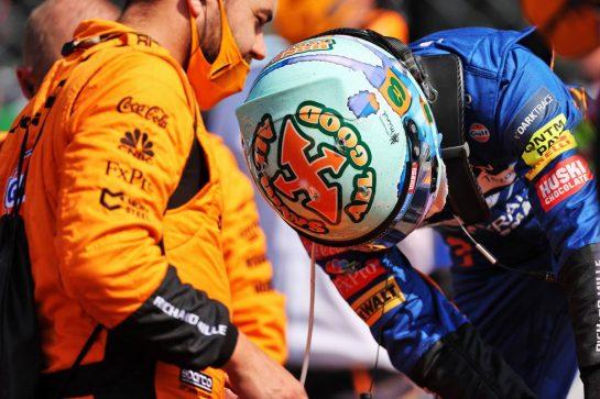Daniel Ricciardo (AUS) McLaren on the grid. 12.09.2021. Formula 1 World Championship, Rd 14, Italian Grand Prix, Monza, Italy, Race Day. - www.xpbimages.com, EMail: requests@xpbimages.com © Copyright: Charniaux / XPB Images