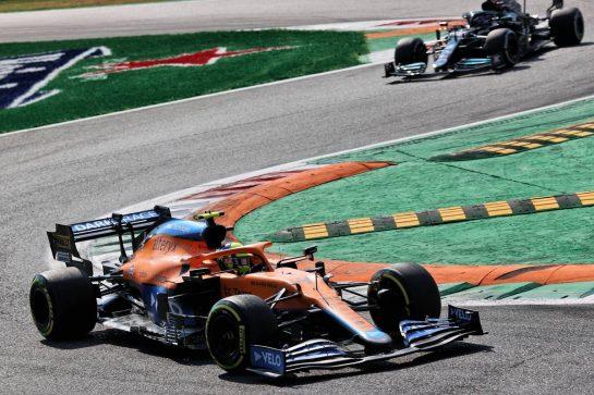 Lando Norris (GBR) McLaren MCL35M. 12.09.2021. Formula 1 World Championship, Rd 14, Italian Grand Prix, Monza, Italy, Race Day. - www.xpbimages.com, EMail: requests@xpbimages.com © Copyright: Batchelor / XPB Images