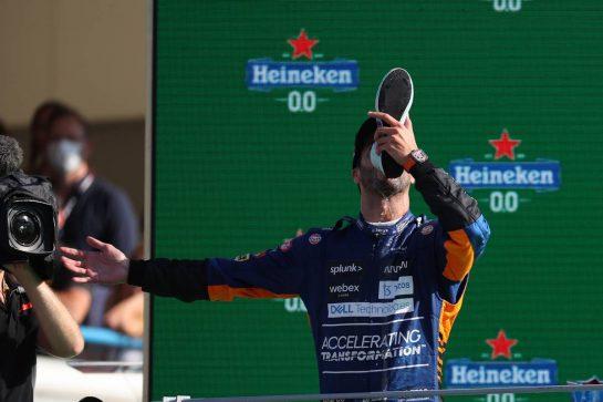 Daniel Ricciardo (AUS) McLaren MCL35M.12.09.2021. Formula 1 World Championship, Rd 14, Italian Grand Prix, Monza, Italy, Race Day.- www.xpbimages.com, EMail: requests@xpbimages.com © Copyright: Batchelor / XPB Images