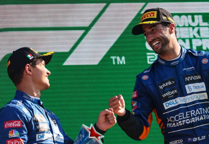 Lando Norris (GBR), McLaren F1 Team and Daniel Ricciardo (AUS), McLaren F1 Team 12.09.2021. Formula 1 World Championship, Rd 14, Italian Grand Prix, Monza