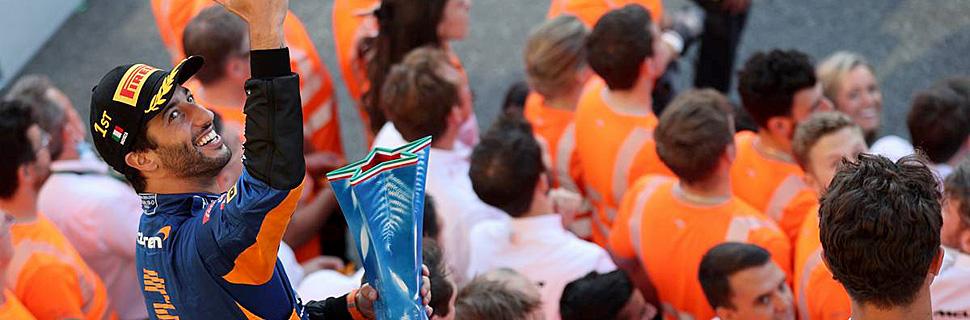 1st place Daniel Ricciardo (AUS) McLaren MCL35M. 12.09.2021. Formula 1 World Championship, Rd 14, Italian Grand Prix, Monza